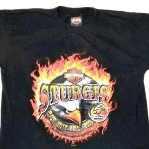 Harley Davidson Sturgis 2005 Graphic Tshirt Black